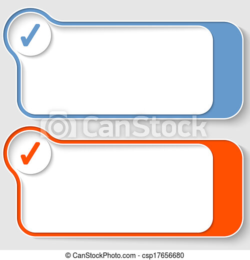 set of two abstract text boxes with check box - csp17656680