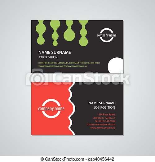 set of two business cards - USA standard - csp40456442