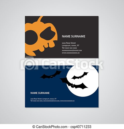 Set of two halloween business cards usa standard set of set of two halloween business cards usa standard csp40711233 colourmoves