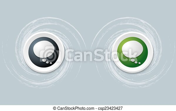 set of two icon with speech bubble - csp23423427