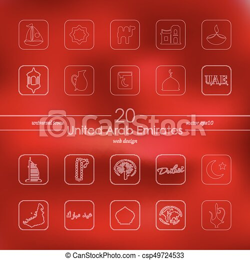 Set of United Arab Emirates icons - csp49724533