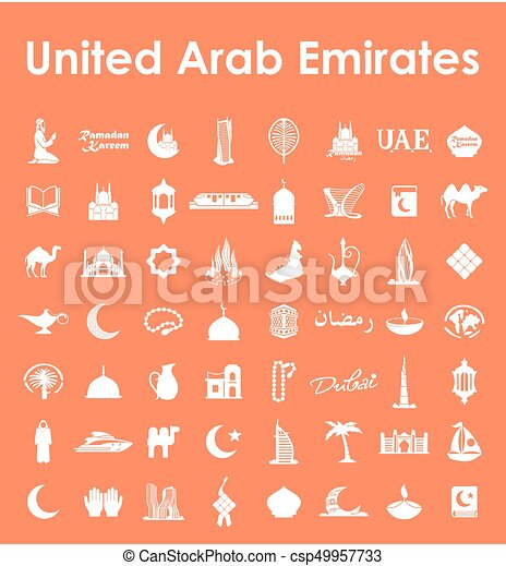Set of United Arab Emirates simple icons - csp49957733