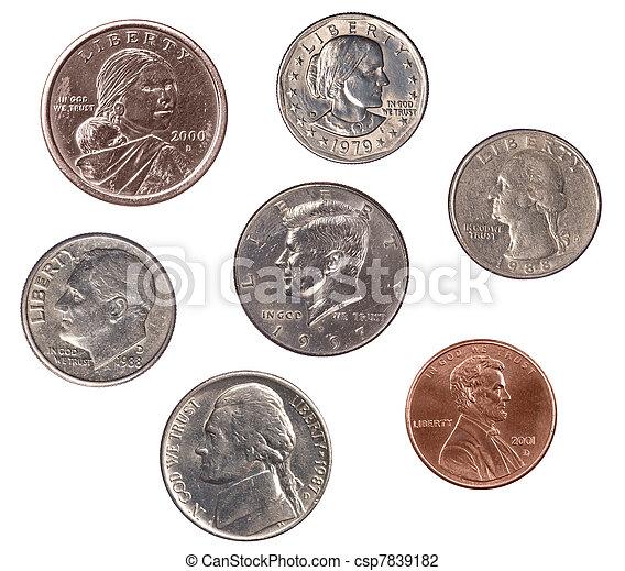 Set of U.S. Coins - csp7839182
