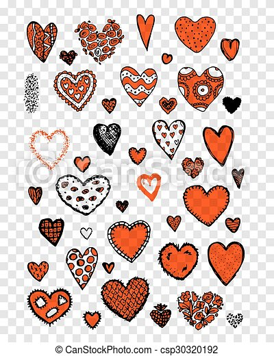 Set of valentine hearts for your design - csp30320192