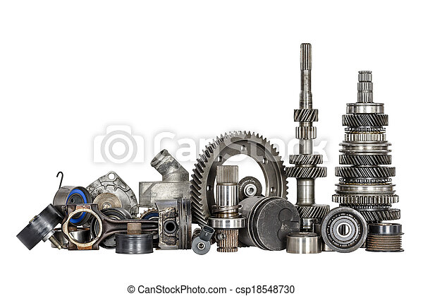 Set of various car parts - csp18548730