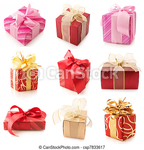 Set of various gifts - csp7833617