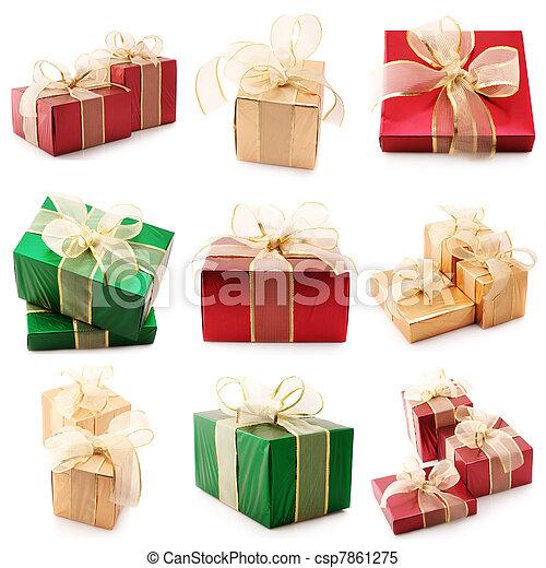 Set of various gifts - csp7861275