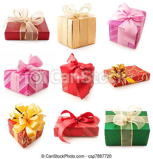 Set of various gifts - csp7887720