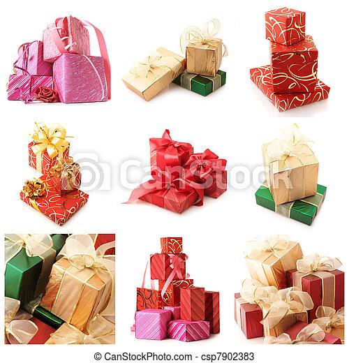 Set of various gifts - csp7902383
