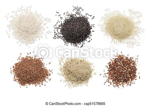 Set of various rice - csp51578665