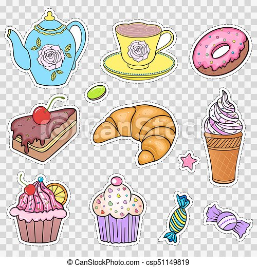 Set of various sweets - csp51149819