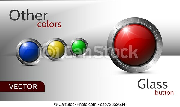Set of vector buttons for web design. - csp72852634
