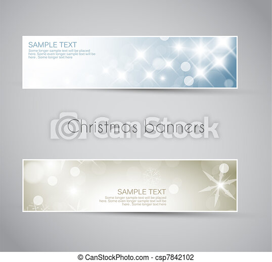 Set of vector christmas / New Year banners - csp7842102