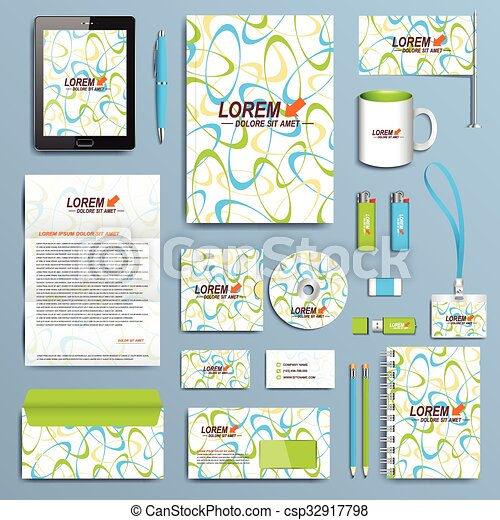Set of vector corporate identity template modern business set of vector corporate identity template modern business stationery design accmission Image collections