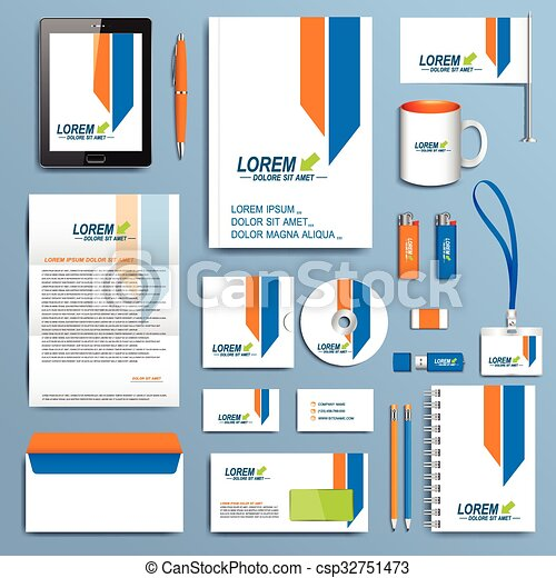 Set of vector corporate identity template modern business set of vector corporate identity template modern business stationery design cheaphphosting Images