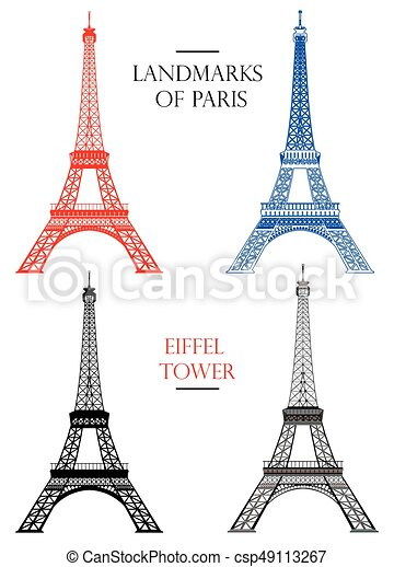 Set of vector eiffel tower landmark of paris set of vector set of vector eiffel tower landmark of paris thecheapjerseys Gallery