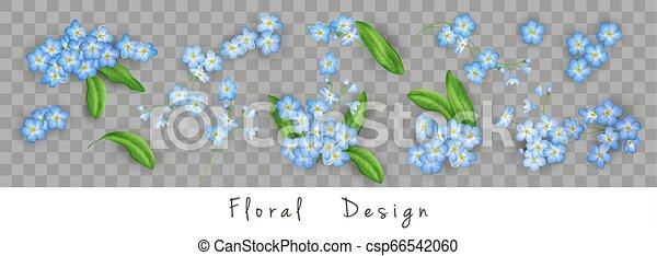 Set of Vector Flowers - csp66542060