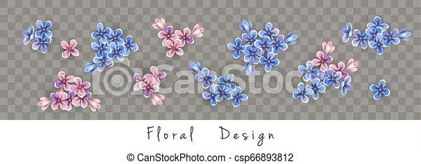 Set of Vector Flowers - csp66893812
