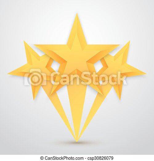 Illustration Of Set Of Vector Gold Stars Icon Five Stars Icon