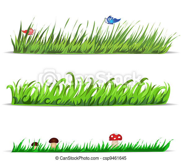 Set of vector grass - csp9461645