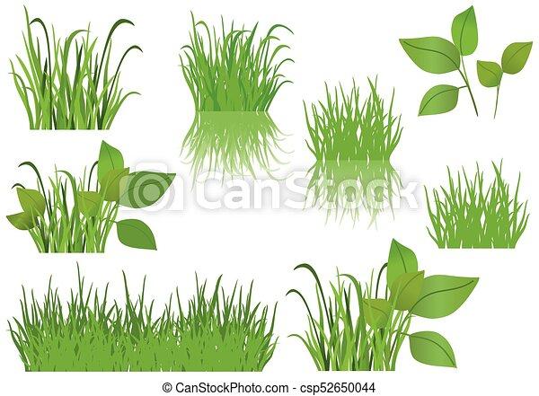 set of vector green grass - csp52650044
