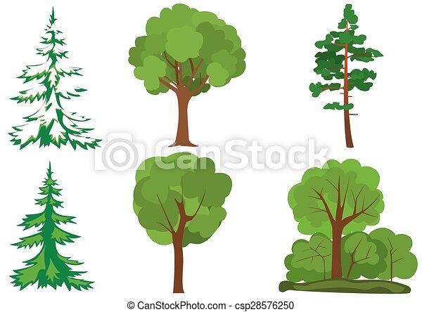 set of vector green trees - csp28576250