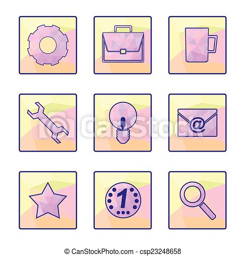 Set of vector icons - csp23248658