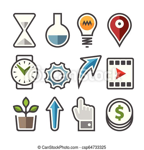 Set of vector icons. - csp64733325