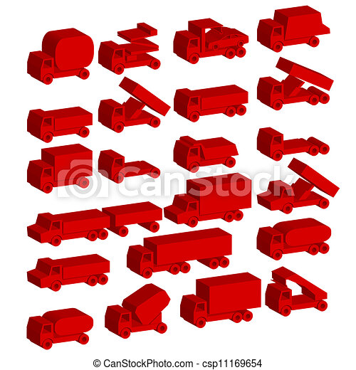 Set of vector icons - transportation symbols. - csp11169654