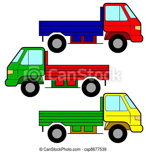 Set of vector icons - transportation symbols. - csp8677539