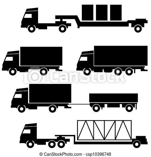 Set of vector icons - transportation symbols - csp10396748