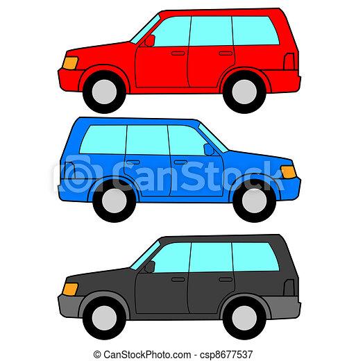 Set of vector icons - transportation symbols. - csp8677537