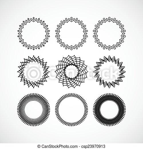 Set of vector lace frames design templates. graceful lineart logo ...