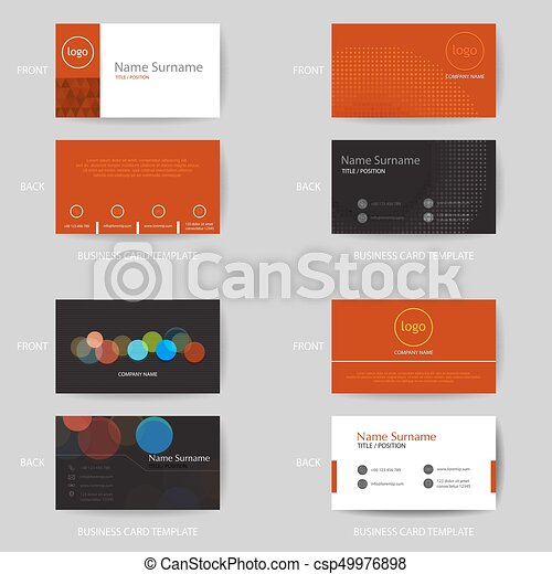 Set of vector modern and clean business card design template set of set of vector modern and clean business card design template reheart Images