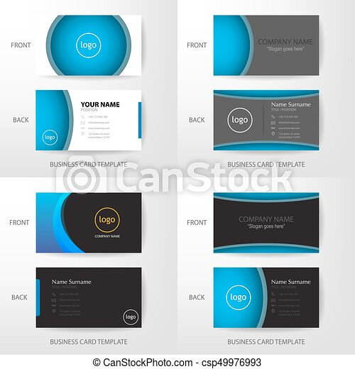 Set of vector modern and clean business card design template set of set of vector modern and clean business card design template wajeb Images