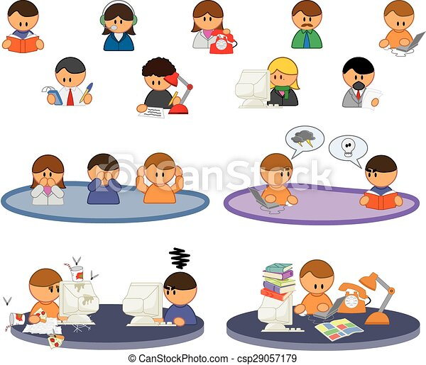 set of vector people icons - csp29057179