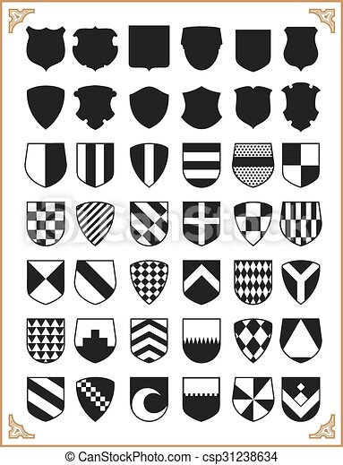 Set of vector shields - csp31238634