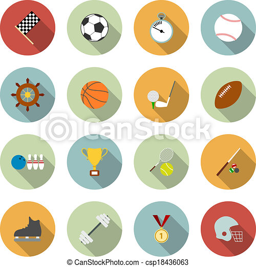 Set of vector sport icons - csp18436063