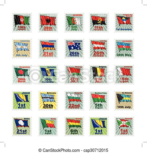 Set of vector stamps - csp30712015