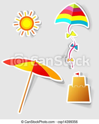 set of vector stickers - csp14399356