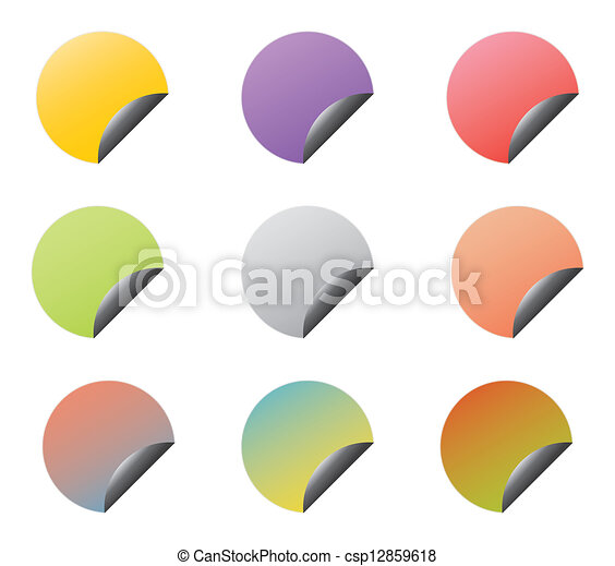 Set of vector stickers with corners - csp12859618