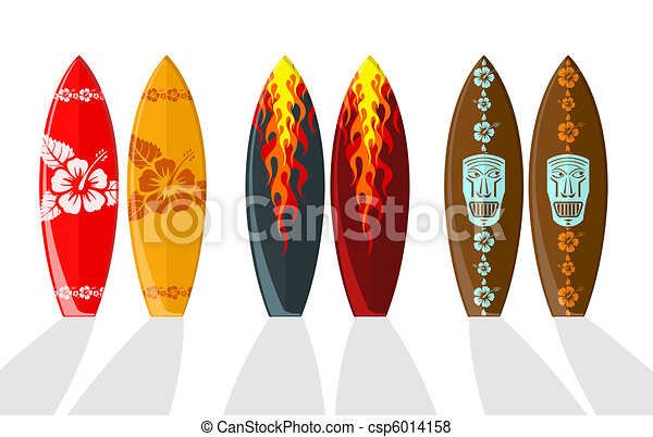 Set of vector surf boards  - csp6014158