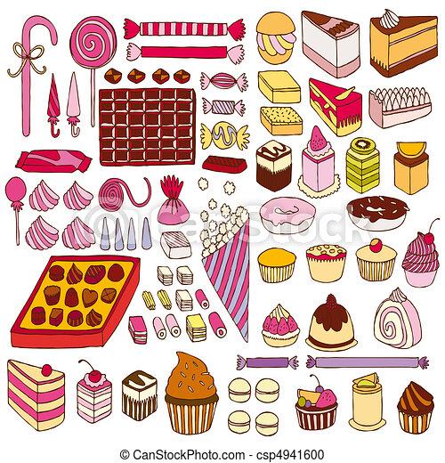 Set of vector sweets - csp4941600