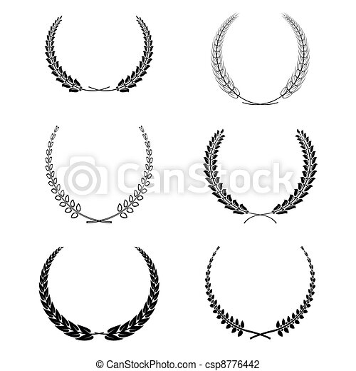 set of vector wreath garland isolated - csp8776442