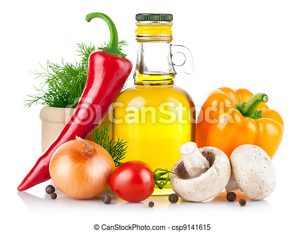 set of vegetables and spice for food cooking - csp9141615