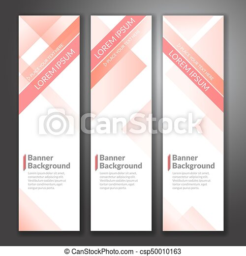 Set of vertical abstract colorful banner stand background with copy space - csp50010163