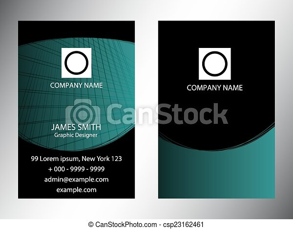 Set of vertical business cards  - csp23162461