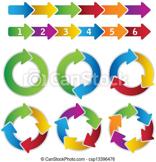 Set of vibrant circle diagrams - csp13396476