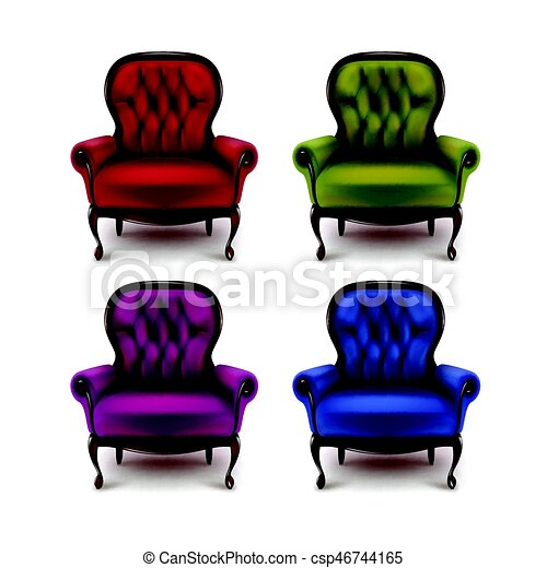 Set Of Vintage Armchairs   Csp46744165