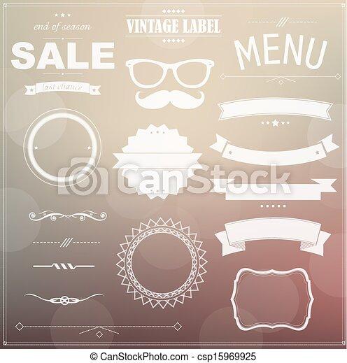 Set Of Vintage Badges - csp15969925